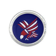 American Eagle Art Ring #eagles #american #art #rings #jewelry #patriotic And www.zazzle.com/inspirationrocks*