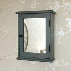 Boudoir Grey Range - Mirrored Wall Cabinet A beautiful mirrored wall cabinet in a dark grey colour Interior Wall Colors, Interior Walls, Wall Colours, Interior Design, Bathroom Mirror Cabinet, Mirror Cabinets, Boudoir, Bathroom Pictures, Bathroom Ideas
