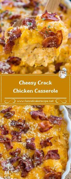 Cheesy Crack Chicken Casserole Cheesy Chicken Recipes, Cheesy Chicken Pasta, Cheesy Chicken Casserole, Sweet Potato Casserole, Crack Chicken, How To Cook Pasta, How To Cook Chicken, Chicken Supper Ideas, Dinner Dishes