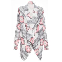 Pink Kimono Cardigan Blouses 2016 Women Geometric Printed Long Sleeve Cotton Coat Fashion Knitted Poncho Tops. Click visit to buy #Blouse #Shirt #BlouseShirt