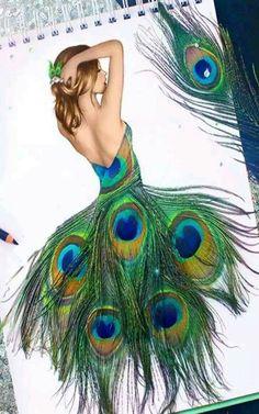 Unique Drawings, Cool Art Drawings, Ink Pen Drawings, Colorful Drawings, Andy Warhol Drawings, Alien Drawings, Cubist Drawing, Fine Art Drawing, Peacock Drawing