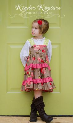 Chocolate Roses Girls Dress  Size 678 by KinderKouture on Etsy, $58.00