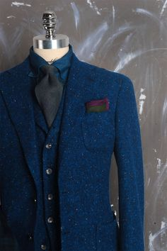 That blue tweed!
