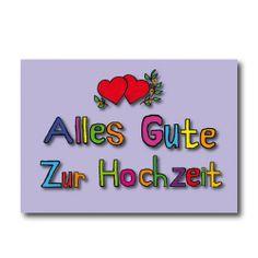 """Grußkarten """"ZUR HOCHZEIT"""" nur 2,45 EUR/Stück"""