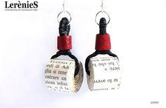 #Earrings, made of #paper   www.lerenies.com