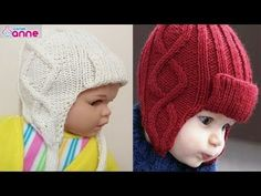 Crochet Kids Hats, Baby Hats Knitting, Crochet Baby, Knitted Hats, Baby Santa Hat, Diy Crafts Knitting, Knitting Designs, Beret, Baby Coming Home Outfit