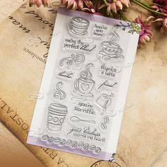 Coffee and tea Clear Stamp Scrapbook DIY photo cards rubber stamp seal stamp happy transparent silicone transparent stamp T-0205