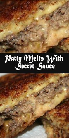 Patty Melts With Secret Sauce – Delicious Foods Around The World - Hamburger meat recipes - Beef Recipes Vol Au Vent, Food Dishes, Main Dishes, Patty Melts, Cooking Recipes, Easy Beef Recipes, Healthy Recipes, Yummy Recipes, Steak Dinner Recipes
