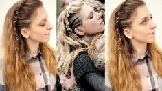 Vikings Inspired Lagertha Hair Tutorial | Viking Hairstyles | Braidsandstyles12 - YouTube