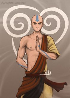 Aang. I never thought about him being hot but dayum...