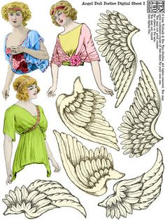 Angel Doll Bodies *1500 free paper dolls for Christmas at artist Arielle Gabriels The International Paper Doll Society and also free Asian paper dolls at The China Adventures of Arielle Gabriel *