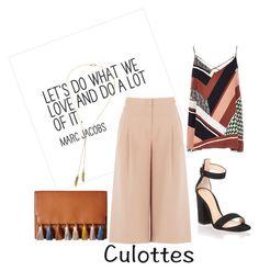 """""""culottes"""" by jeneva-tagnipez on Polyvore featuring BCBGMAXAZRIA, Gianvito Rossi, Bølo and Rebecca Minkoff"""