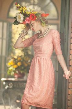 Shabby Apple Peony Dress Pink