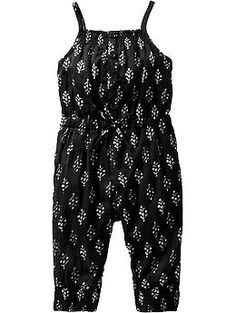 Printed Gauze Rompers for Baby   Old Navy