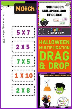 Drag and Drop multiplication equations on the Halloween image that shows the correct product. Use this on an interactive whiteboard or in Google Classroom.   Each card contains 3 products in a cupcake and 9 equations (3 for each cupcake).  The PDF includes a link to step by step instruction to copy the Google Slide resource to your own Google Drive.   10 slides/practice problems #halloween #teacherresouces #teacherspayteachers Reading Lessons, Writing Lessons, Math Lessons, Multiplication Facts Practice, Multiplication Strategies, Interactive Whiteboard, Math Intervention, How To Start Homeschooling, Spelling Activities