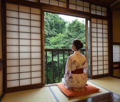 https://flic.kr/p/cWkzHb   Studying nature from a traditional Japanese ryokan room, Tochigi   Honke Bankyu, Yunishigawa Onsen, Nikko, Japan