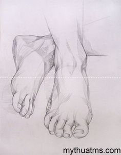Drawing The Human Figure - Tips For Beginners - Drawing On Demand Feet Drawing, Body Drawing, Drawing Poses, Life Drawing, Painting & Drawing, Anatomy Sketches, Anatomy Art, Anatomy Drawing, Human Figure Drawing