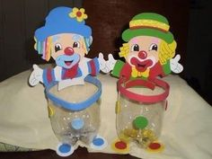 30 Recuerdos para el dia del niño - Alumno On Carnival Themes, Circus Theme, Circus Party, Clown Party, Tin Can Crafts, Diy And Crafts, Freak Show Halloween, Diy For Kids, Crafts For Kids