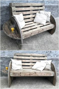 DIY ideas for wooden pallet projects Pallet furniture projects furniture Diy Garden Furniture, Diy Pallet Furniture, Diy Furniture Projects, Rustic Furniture, Furniture Design, Palette Garden Furniture, Modern Furniture, Antique Furniture, Diy Furniture Made From Pallets