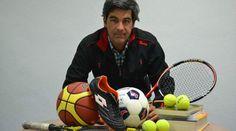 Miguel Valor y #deporte. Fotografía del reportaje que le hicieron en el periódico