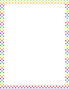 Superb Free Rainbow Polka Dot Border Templates Including Printable Border Paper  And Clip Art Versions. File Formats Include GIF, JPG, PDF, And PNG. Ideas Paper Border Designs Templates