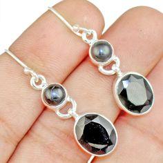 Black Onyx 925 Sterling Silver Earring Allison Co Jewelry E-1665 #Allisonsilverco