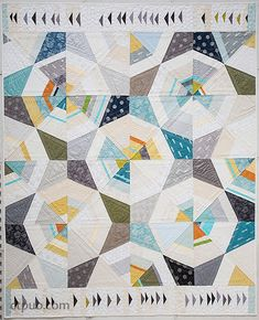 "Octagon Shimmer Quilt, 70 x 86"", pattern by Jennifer Sampou"