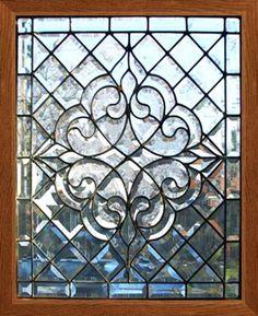 Antique Beveled Glass Window.