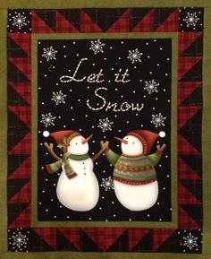 snowman quilt - kit from cottonpickens.com