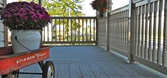 vinyl porch rail with turned spindles Aesthetic Value, Deck Railings, Fence, Porch, Outdoor Decor, Home Decor, Balcony, Decoration Home, Room Decor