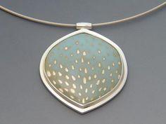 Julia V. Turner, Bluerain Pendant, Sterling, enamel.