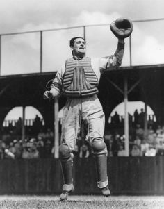 """Morris """"Moe"""" Berg - player, catcher for a number of teams during his career, due to his ability with languages was a successful American spy during World War II Baseball Players, Baseball Cards, American Athletes, Take Video, Boston Red, Spy, Catcher, All Star, Famous People"""