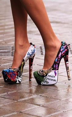 i really want a pair of patterned heels!