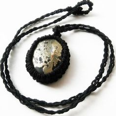 Pyrite Hemp Wrapped Necklace  High Quality Pyrite Made with 100% natural strong hemp  No synthetic fibers or harmful metals or chemicals  for men or women  Packaged in a unique jewelry bag or box and shipped quickly and safely to your door  Pyrite works with intelligence and mental stability. It shields and protects against negativity and brings overall emotional well being. Helps to correct thoughts in regards of attracting abundance. MORE HEALING PENDANTS HERE http://etsy.me&#x2F...