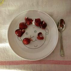 Fede's plate www.etsy.com/uk/listing/204423879 Dinner Sets, Service, Bon Appetit, Panna Cotta, My Design, Plates, Ethnic Recipes, Desserts, Etsy