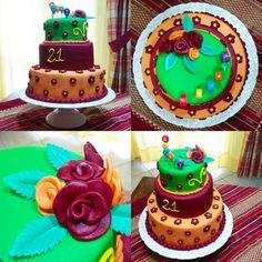 Torta compleanno #fiori #a #piani
