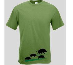 T-Shirt Wildschweine 1  T-Shirt Wildschwein mit Frischlingen. Das Wildschweine T-Shirt ist in den Größen S-XXL erhältlich. Auf dem Jäger T-Shirt ist ein Wildschwein mit seinen Jungen abgebildet. / mehr Infos auf: www.Guntia-Militaria-Shop.de
