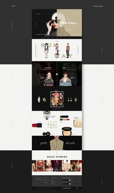 GUCCI Web/Mobile web Renewal on Behance Webpage Layout, Web Layout, Layout Design, Page Design, Web Design, Graphic Design, Website Header Design, Yearbook Design, Promotional Design
