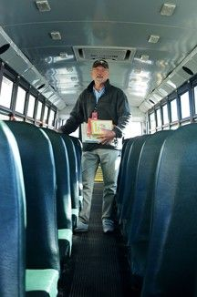 Driving Kids to Read | Door County | Peninsula Pulse..Bus Driver has books on board that riders read! crowd control and more reading practice!
