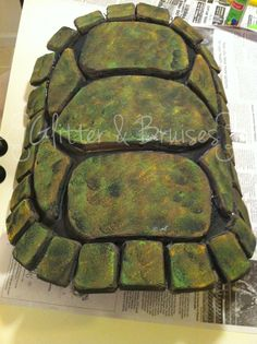 Teenage Mutant Ninja Turtle Halloween Costume, Michaelangelo!  Husband made shell from foam floor padding! LIKE Glitter & Bruises on Facebook for immediate access to THE GOOD STUFF:  https://www.facebook.com/glitterandbruisesdotcom