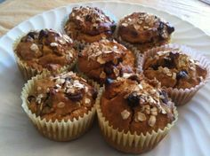 A healthier version of pumpkin chocolate chip muffins...our kids fall favorite