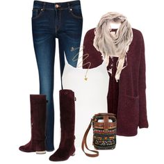 """Red Wild Fall"" by ohmeejean on Polyvore"