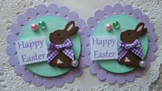 Spring/Easter Bunny Embellishments on Etsy, $4.29