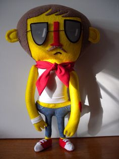 Creative Review - Jon Burgerman plush toys by Felt Mistress