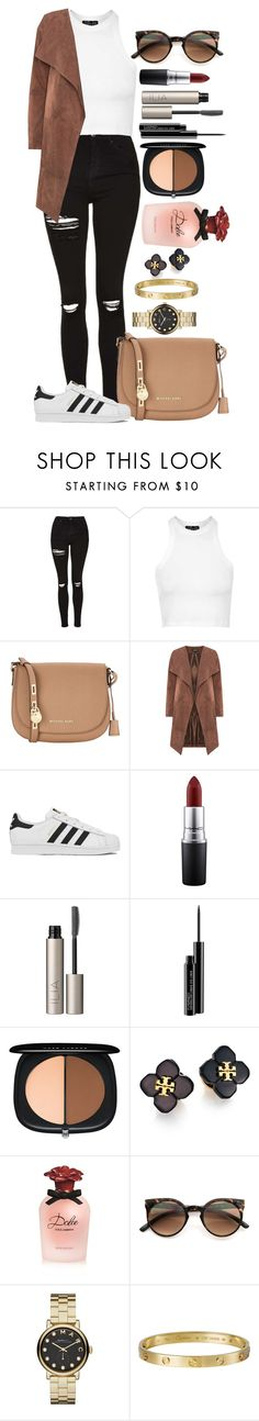 """""""Untitled #1421"""" by fabianarveloc on Polyvore featuring Topshop, MICHAEL Michael Kors, adidas, MAC Cosmetics, Ilia, Marc Jacobs, Tory Burch, Dolce&Gabbana, Retrò and Marc by Marc Jacobs"""