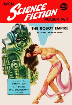 AAvon_Science_Fiction_Reader_No_3 _The Robot Empire,  Vulture Graffix T Shirt Design, http://vulturegraffix.onlineshirtstores.com/