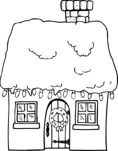 Dessin maison à imprimer #21307