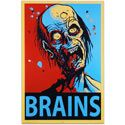 Support zombie rights and vote Brains 2012!|zombie poster