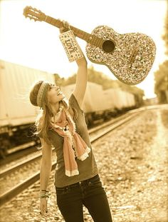 Rock out! Decorate your guitar & Grab some glitter headbands www.naturallife.com