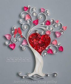 @ Larisa- Quilled heart pictures (Searched by Châu Khang)